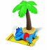 schleich smurf holiday figure under palm