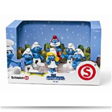 3D Movie 6 Figure Set Papa Smurf