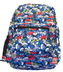 children's smurfs backpack measurement zippered compartment