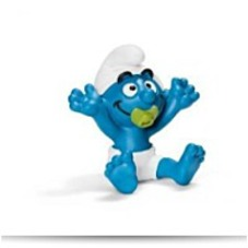 Baby Smurf With Pacifier Toy Figure