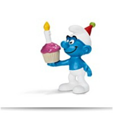 Birthday Smurf Toy Figure