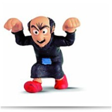 North America Smurf Gargamel Figure