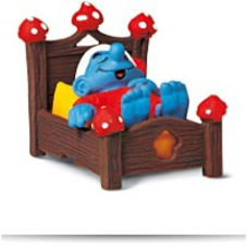 Smurf In Bed Toy Figure