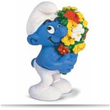 Discount Smurf With Flowers