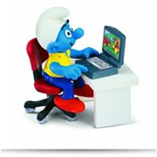 Discount Smurf With Laptop Toy Figure