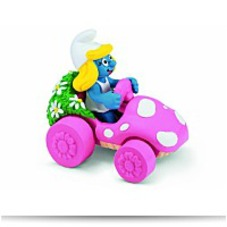 Smurfette In Car Toy Figure