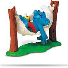 Super Smurf In Hammock Figurine