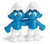 schleich gemini smurf figure talking twins