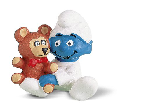 Schleich Baby Smurf Figure With Teddy