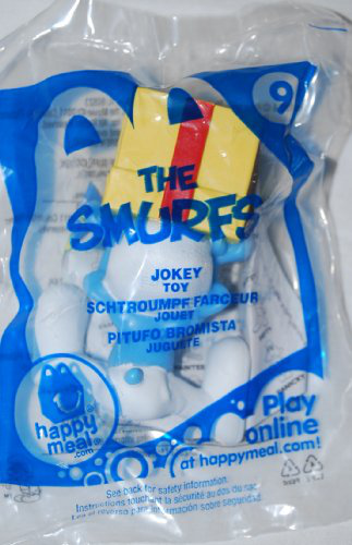 Mc Donalds 2011 Smurfs Movie Jokey Smurf