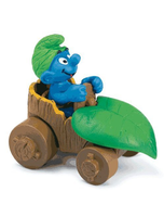 Smurf In Car Toy Figure