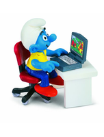 Smurf With Laptop Toy Figure